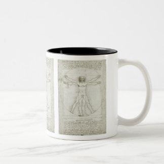 Vitruvian Man by Leonardo da Vinci Two-Tone Coffee Mug
