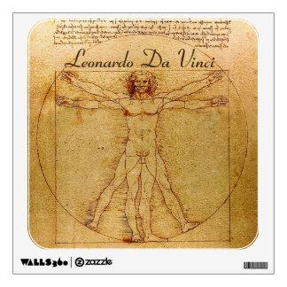 Vitruvian Man By Leonardo Da Vinci Wall Sticker