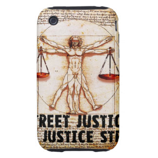 Vitruvian Man by Street Justice iPhone 3 Tough Cover