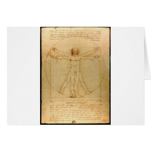 Vitruvian man. card