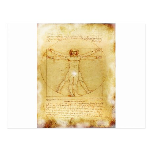 Vitruvian Man- Da vinci's Postcards