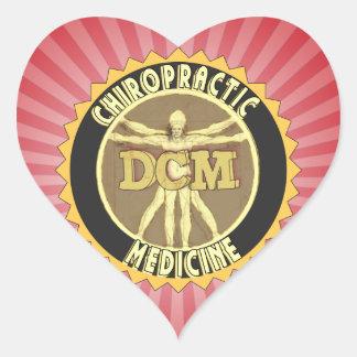 Vitruvian Man DCM Heart Sticker