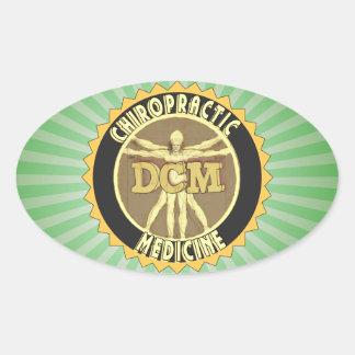 Vitruvian Man DCM Oval Sticker