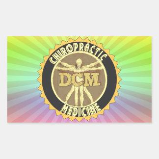 Vitruvian Man DCM Rectangular Sticker