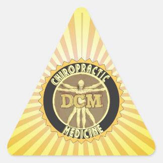 Vitruvian Man DCM Triangle Sticker