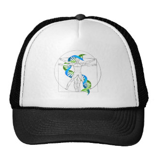 Vitruvian Man DNA Trucker Hat