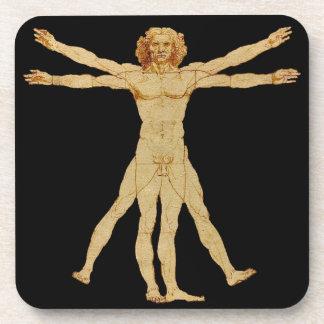 Vitruvian Man Drink Coaster