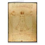 Vitruvian man. greeting card