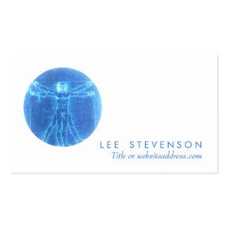 Vitruvian Man Health Care Business Card