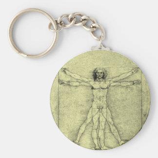 Vitruvian Man Key Chains