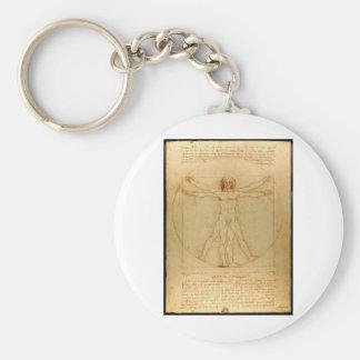 Vitruvian man. key chain