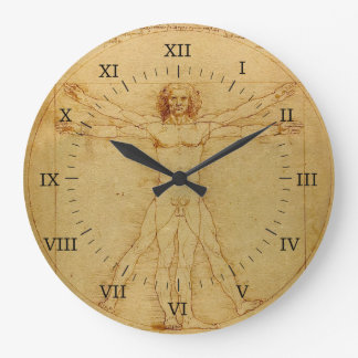 Vitruvian Man Large Clock