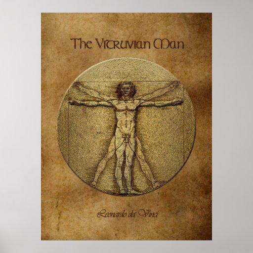 VITRUVIAN MAN Leonardo Da Vinci Art Poster