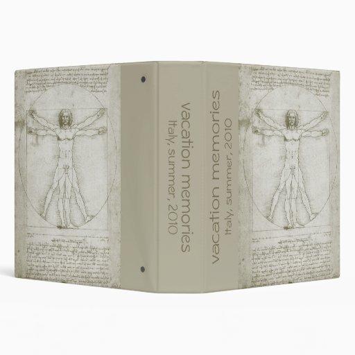 Vitruvian Man Leonardo da Vinci, Renaissance Art Binder