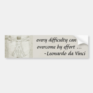 Vitruvian Man Leonardo da Vinci, Renaissance Art Bumper Stickers