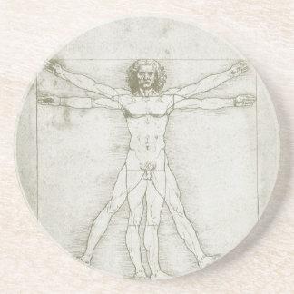 Vitruvian Man Leonardo da Vinci, Renaissance Art Drink Coasters