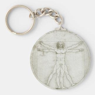 Vitruvian Man Leonardo da Vinci, Renaissance Art Key Chains