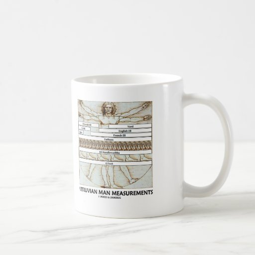 Vitruvian Man Measurements Mug