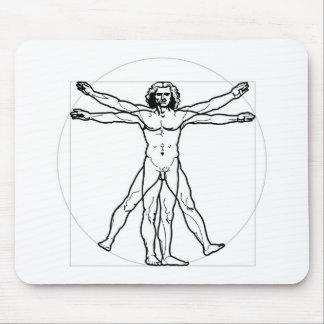 Vitruvian Man Mouse Pad