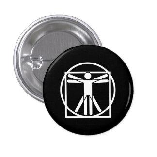 Vitruvian Man Pictogram Button
