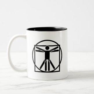 'Vitruvian Man' Pictogram Mug