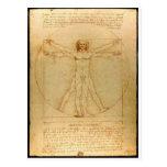 Vitruvian man. post cards