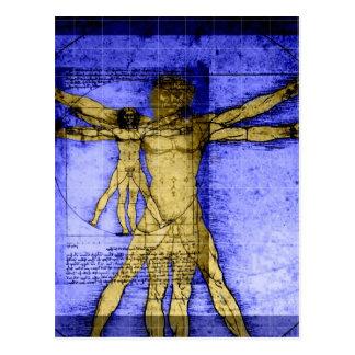 Vitruvian Man Postcard