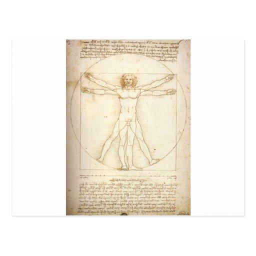 Vitruvian Man Postcards
