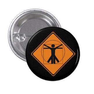 vitruvian man road sign button