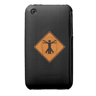 vitruvian man road sign iPhone 3 case