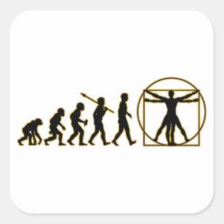 Vitruvian Man Square Sticker