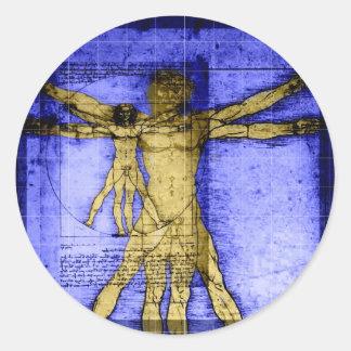 Vitruvian Man Stickers