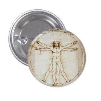 Vitruvian Man Tiny Button
