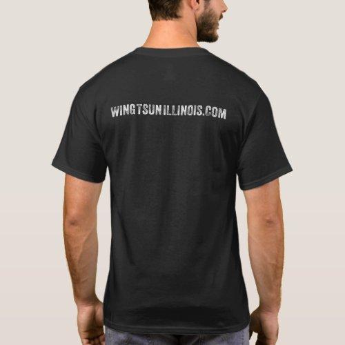 Vitruvian Man Wing Tsun Illinois Dark Shirt