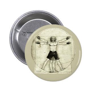 Vitruvian MMA Man Pinback Button