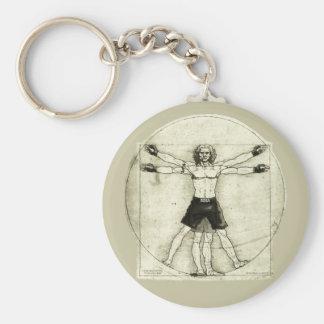 Vitruvian MMA Man Key Chains
