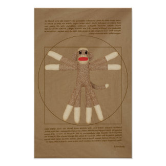 Vitruvian Monkey Poster