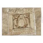 Vitruvian Penguin Greeting Card