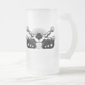 Vitruvian Reps Frosted Glass Beer Mug