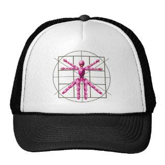 Vitruvian Robot - Pink Trucker Hat