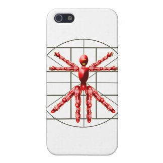 Vitruvian Robot - Red Case For iPhone 5