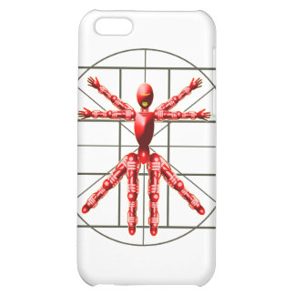 Vitruvian Robot - Red iPhone 5C Cases