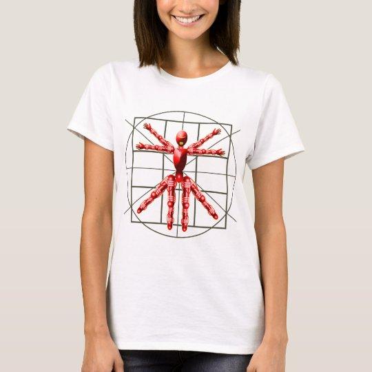 Vitruvian Robot - Red T-Shirt