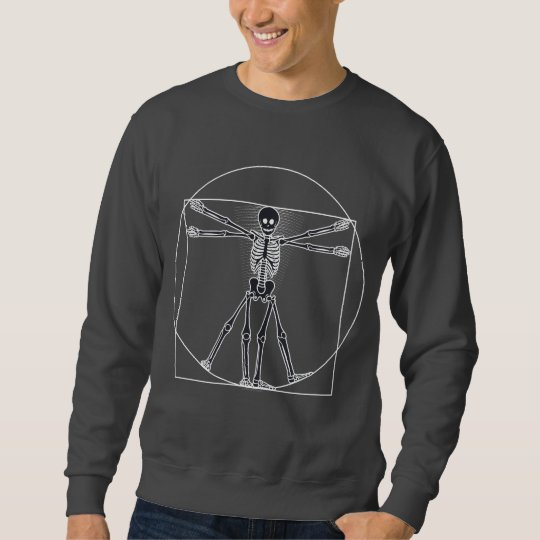 Vitruvian Skeleton Dark Sweatshirt