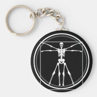 Vitruvian Skeleton Key Chains