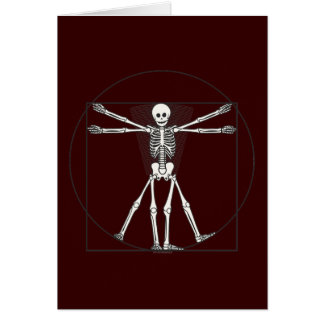 Vitruvian Skeleton Lite Greeting Card