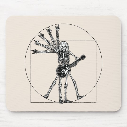 Vitruvian Skeleton Mouse Pad