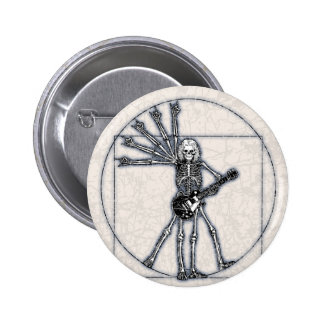 Vitruvian Skeleton Pinback Button