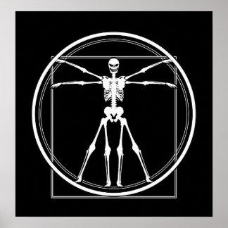 Vitruvian Skeleton Poster