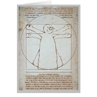 Vitruvian Snowman Greeting Card